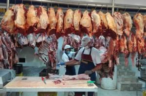 Establecimiento de venta de carne - Foto: Secretaría de Salud