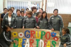 Integrantes de la Fundación Colombiana para el Desarrollo de Proyectos Sociales Crear Ideas - Foto: Soledad Peña