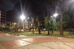 Iluminación Parque Francia - Foto: Prensa UAESP
