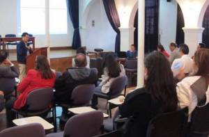 Personas en un auditorio - Foto: Alcaldía Local de Usaquén