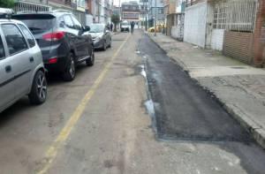 Mantenimiento vial barrio Bonanza - Foto: UMV