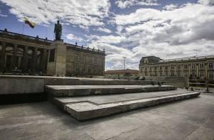 Restauración monumento Plaza de Bolívar - Foto: Prensa Alcaldía Mayor  / Camilo Monsalve