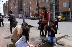 Detrás de cámaras - Cinemateca Rodante Ciudad Bolívar 2015 - Foto: Cinemateca Rodante