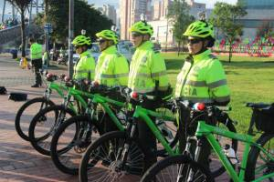 Policía en ciclorutas - FOTO: Prensa Alcaldía Mayor