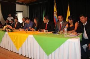 Ediles posesionados y asistentes al acto protocolario - Foto: Alcaldía Local de Fontibón