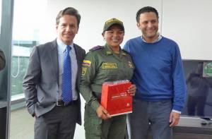 Reconocimiento Policías - Foto: Prensa Secretaría de Seguridad