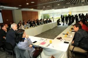 Reunión Alcalde Peñalosa con periodistas - Foto: Diego Bautista