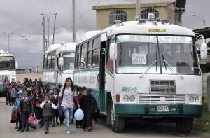 Transporte escolar -Foto: Secretaría de Educación