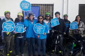 Campaña seguridad en ciclorrutas - Foto: Secretaría de la Mujer