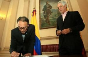 Firma de convenio - Portal Bogotá - Foto: Oficina Asesora de Prensa - Alcaldía Mayor de Bogotá