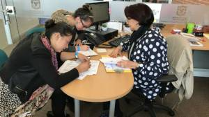 Aplicando para un empleo - Foto: bogota.gov.co