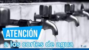 Banner cortes de agua en Bogotá - Foto: Alcaldía Mayor de Bogotá