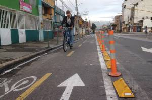 Bicicarril  Avenida Chile - Foto: Prensa IDU