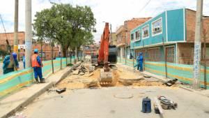 Construcción colector en Bosa - Foto: EAB