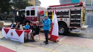 Entrega máquina de bomberos - Foto: Alcaldía Local de Chapinero