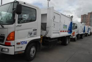 Camiones de aseo y limpieza LIME - Foto: Limpieza Metropolitana -  LIME S.A ESP