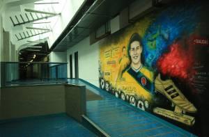 Mural estadio El Campín - Foto: Prensa Alcaldía Mayor de Bogotá/ Diego Bauman