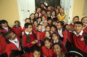 Visita colegio Villas del Progreso - Foto: Prensa Alcaldía Mayor de Bogotá