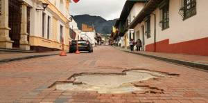 Obra vial en La Candelaria - Foto: Alcaldía Local de La Candelaria