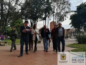Recorrido Alcaldesa Teusaquillo - Foto: Prensa Alcaldía Local de Teusaquillo
