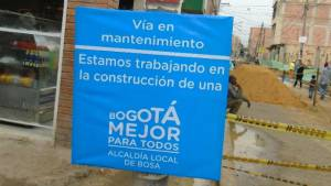 Rehabilitación de vías - Foto: Alcaldía de Bosa