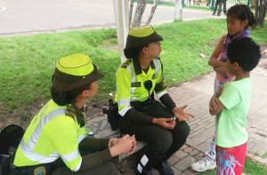 Seguridad en parques - Foto: Oficina de Prensa Policía metropolitana de Bogotá