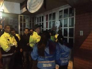 Operativo en el barrio La Uribe - Foto: Alcaldía Mayor de Bogotá