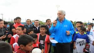 Alcalde Peñalosa en parque zonal Fontanar del Río - Foto: Instituto Distrital de Recreación y Deporte (IDRD)