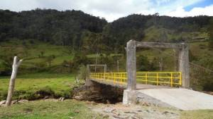 Intervención en los puentes - Foto: Alcaldía Local de Sumapaz