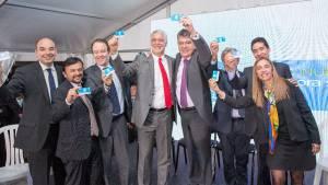 Firma del convenio para hacer el metro en Bogotá entre Gobierno nacional y local.