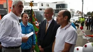 Firma pacto comerciantes 12 de Octubre- Foto: Comunicaciones Alcaldía Bogotá / Andrés Sandoval