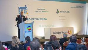 Presentación en Foro de Vivienda de Asobancaria - Foto: Comunicaciones Alcaldía Bogotá / Andrés Sandoval