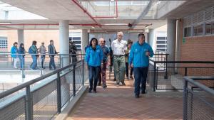 Alcalde recorrió las obras del Colegio Nydia Quintero de Turbay en Engativá
