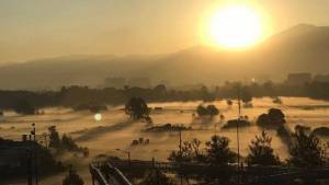 Así está amaneciendo en Bogotá. La sensación térmica apenas alcanza los 3 grados. Foto: Claudia Martínez.