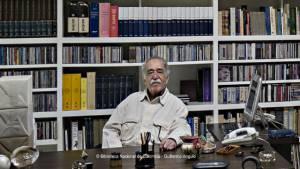 Gabo en su estudio - Foto: Guillermo Angulo