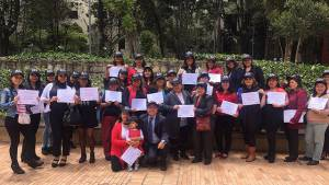 29 madres comunitarias se gradúan en TIC. Foto: Prensa Consejería TIC