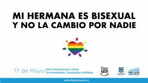 Ayúdanos a disminuir la discriminación contra las personas LGBTI.