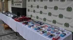 Incautación de celulares en Suba- FOTO: Prensa MEBOG