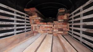 Operativo incautación de madera - Foto: Prensa Secretaría de Ambiente