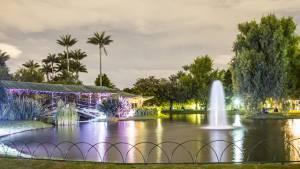 La magia de un jardín encantado nocturno en Bogotá