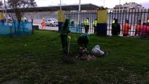 Realizan jornada de limpieza en la Avenida Primera de Mayo - Foto: Aguas de Bogotá