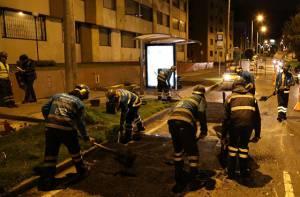Mantenimiento de huecos en Bogotá - Foto: Prensa IDU