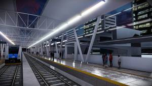 Estación de metro elevada  - Foto: Render Metro Alcaldía Bogotá