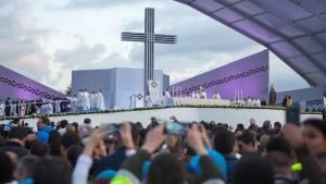 Así se vivió la santa misa - Foto: Alcaldía Mayor de Bogotá/Andrés Sandoval