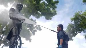 Recuperación del monumento Almirante Padilla - Foto: IDPC