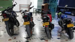 Motos robadas - FOTO: Prensa Mebog