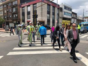 Las muertes de peatones se redujeron en un 40%. Foto: Secretaría de Movilidad