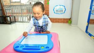 Niña en jardín infantil - Foto: Alcaldía Mayor de Bogotá