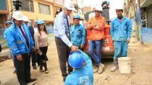 Obras para evitar inundaciones en Engativá - Foto: Alcaldía Mayor de Bogotá/Diego Baumán