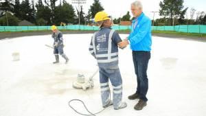 Obras de patinódromo del parque El Salitre - Foto: Comunicaciones Alcaldía / Diego Bauman
